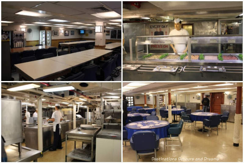 Cooking and eating facilities aboard USS Midway