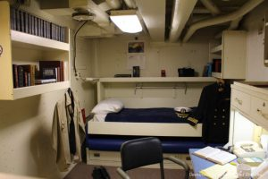 Officer's cabin on USS Midway Museum