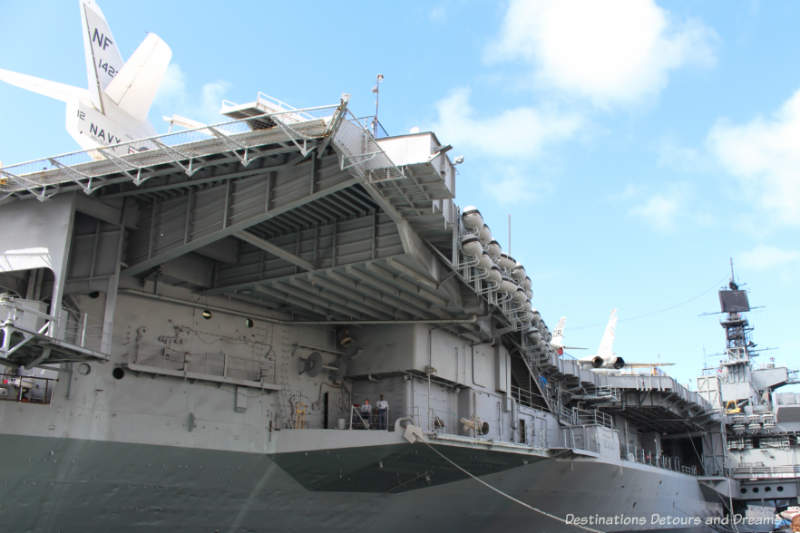 Side of the USS Midway