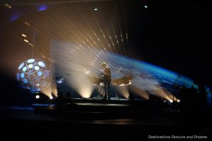 The Earth Harp performance
