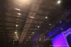 Strings along the ceiling at an Earth Harp perfirmance