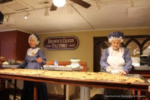 Making candy at Silver Dollar City