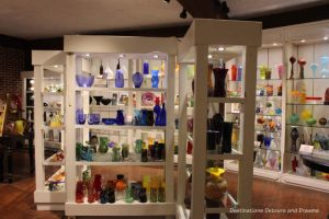 Blown glass pieces for sale at Silver Dollar City