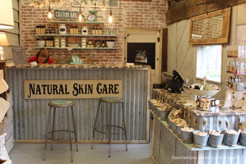 Natural sin care shop at Silver Dollar City