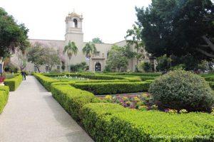 Formal hedges of Alcazar Garden in Balboa Park