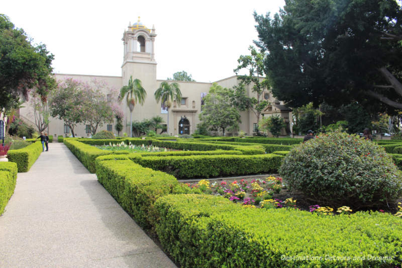 Formal hedges of Alcazar Garden in Balboa Park