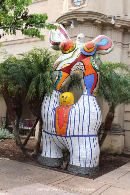 Sculpture in front of Mingei International Museum