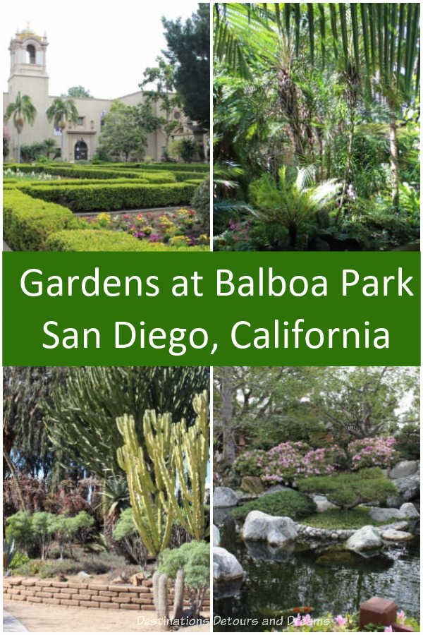 Balboa Park in San Diego, California contains several gardens for visitors to enjoy #California #SanDiego #garden #park