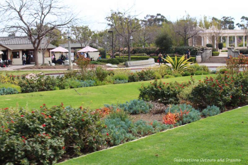 Landscaped grounds of Balboa Park