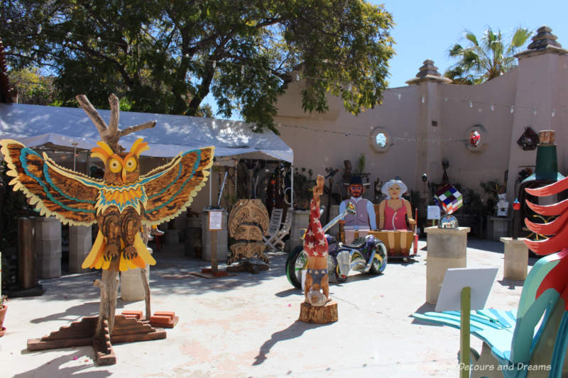 Sculptures for sale in Spanish Village