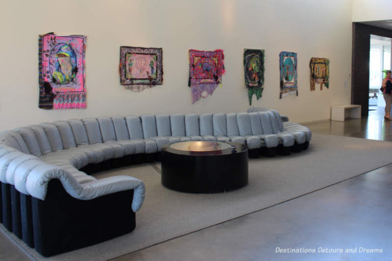Lobby of 21c Museum Hotel in Bentonville, Arkansas
