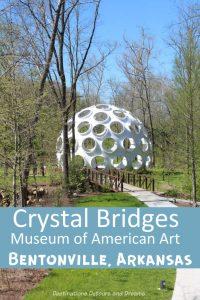 Crystal Bridges Museum of American Art in Bentonville, Arkansas marries art and architecture with nature #art #Arkansas #Bentonville #Americanart #museum