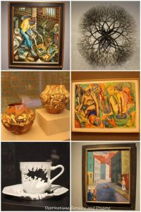 A selection of artwork at Crystal Bridges Museum of Art