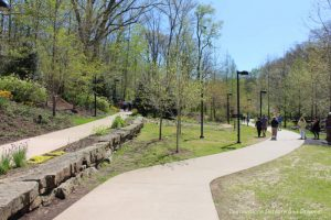 Outdoor art trail at Crystal Bridges Museum of american art
