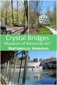 Crystal Bridges Museum of American Art in Bentonville, Arkansas marries art and architecture with nature #art #Arkansas #Bentonville #Americanart #museum