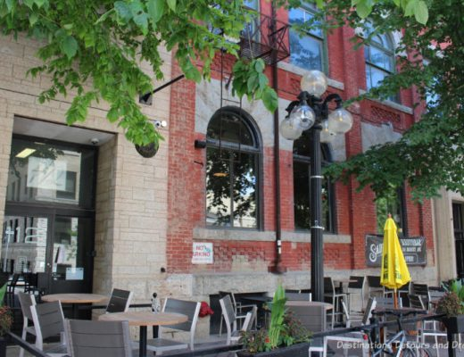 Restaurant patio in Winnipeg's historic Exchange District