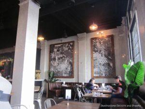 Feast on Foot in Winnipeg's Exchange District: interior of La Carnita restaurant