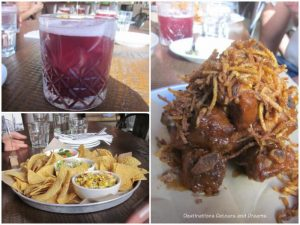 Drink and appetizers served at La Carnita restaurant in Winnipeg
