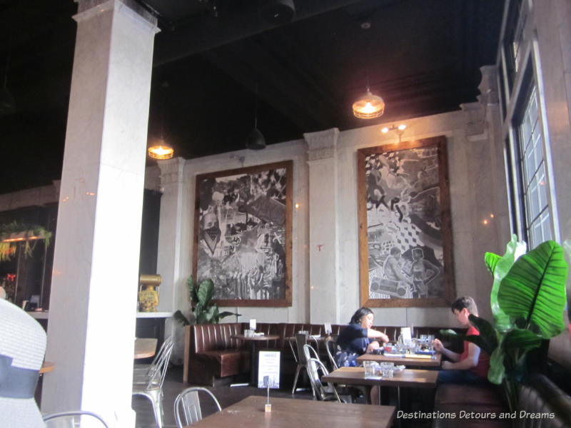 Feast on Foot in Winnipeg's Exchange District: interior of La Carnita restaurant