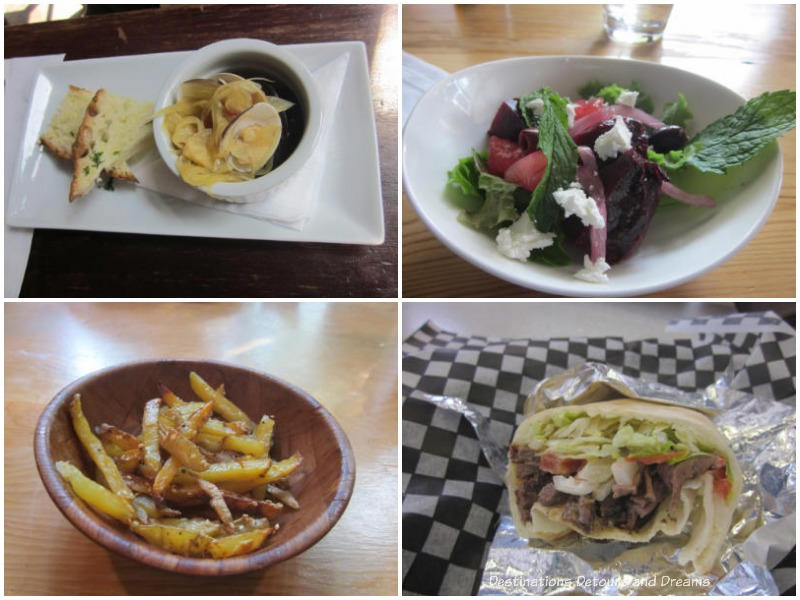 A sampling of dishes on a Winnipeg Exchange District food tour