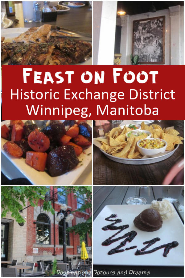 Feast on Foot in Winnipeg's Exchange District - sampling restaurants in a historic area of Winnipeg, Manitoba, Canada #Winnipeg #Manitoba #historic #food #restaurant
