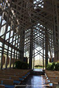 Inside Thorncrown Chapel