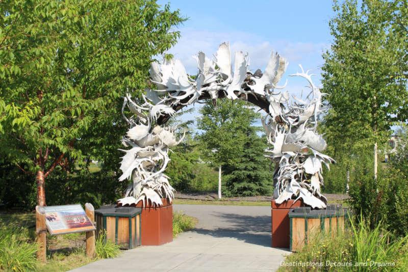 Moose antler arch in Fairbanks, Alaska