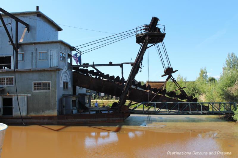"Gold dredge ""ladder"" at Gold Dreg 8 near Fairbanks, Alaska"