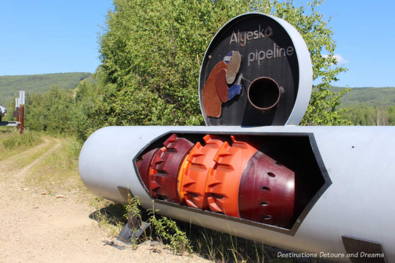 Alaska Pipeline model at Gold Dredge 8