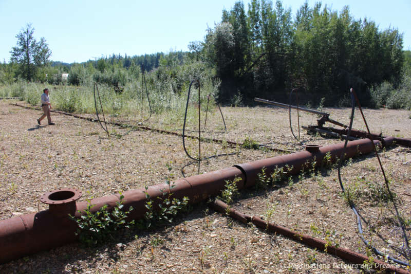 Water pumping apparatus for gold dredge mining on the Alaska Gold Dredge 8 tour