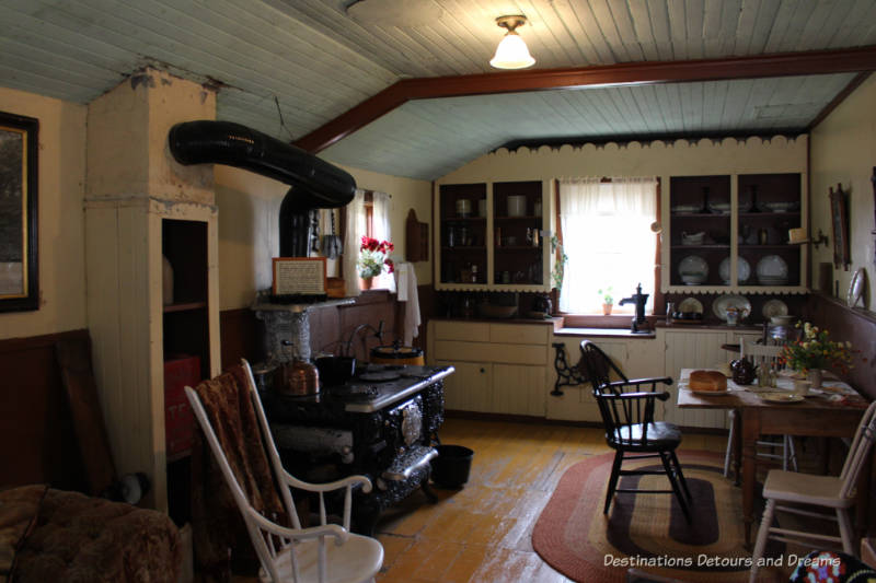 Hazel Cottage kitchen, Nellie McClung Heritage Site in Manitou, Manitoba