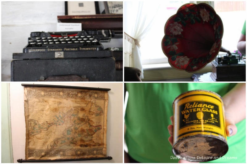Some of the items on display at Nellie McClung Heritage Site