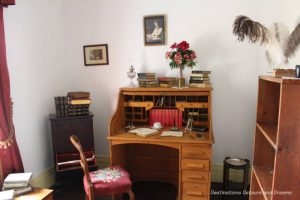 Nellie McClung's study in her Manitou house