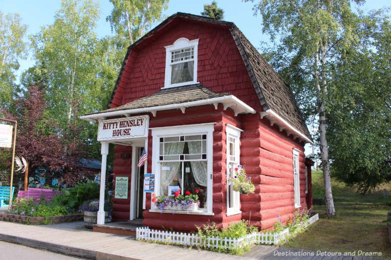 Kitty Hensley House in Pioneer Park in Fairbanks, Alaska