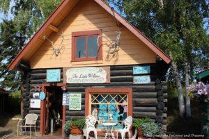 The Little Willow log cabin in Pioneer Park in Fairbanks, Alaska
