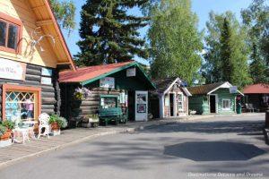 Log cabins in Pioneer Park in Fairbanks, Alaska