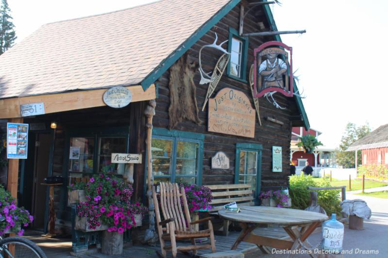Former ranger cabin in Pioneer Park in Fairbanks, Alaska