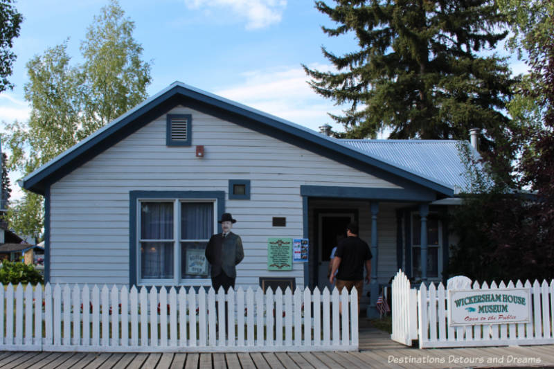 The Wickersham House museum in Puoneer Park in Fairbanks, Alaska
