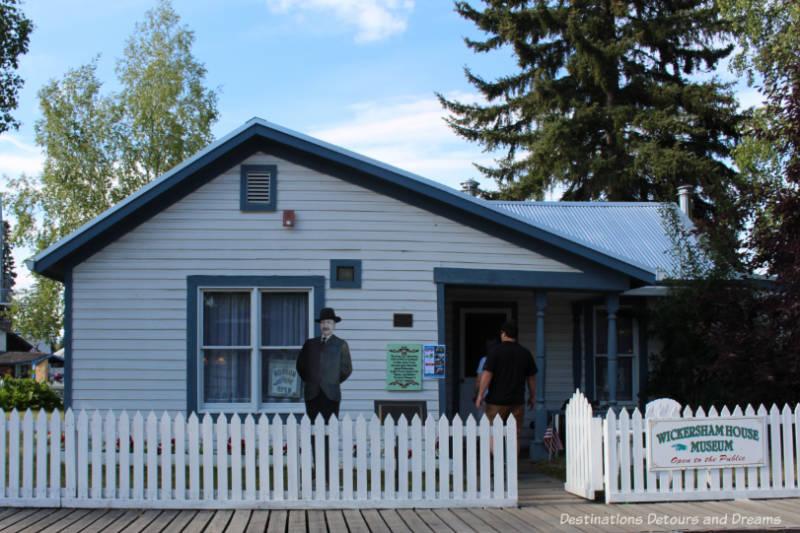 The Wickersham House museum in Puoneer Park in Fairbanks, Alaska