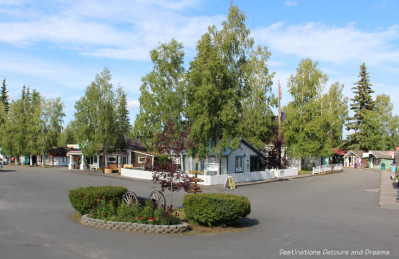 Historic buildings in Pioneer Park in Fairbanks, Alaska