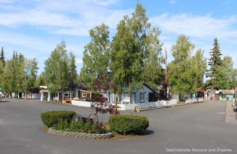Historic buildings in Pioneer Park in Fairbanks, Alaska