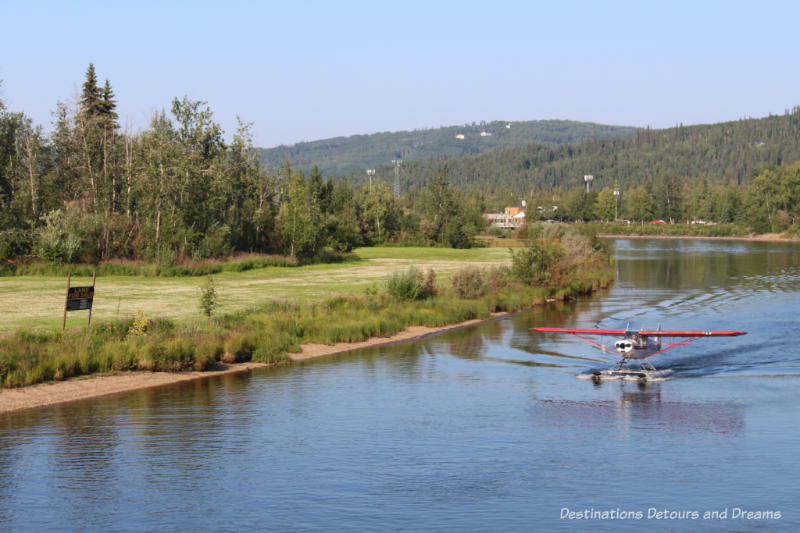Float plane demonstration for the Riverboat Discovery tour in Fairbanks, Alaska