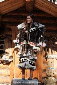 Elaborate fur parka at Chena Village in Fairbanks, Alaska