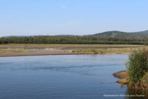 Junction of the Chena and Tanana Rivers in Alaska