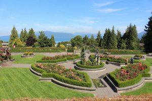 Panoramic UBC Rose Garden view
