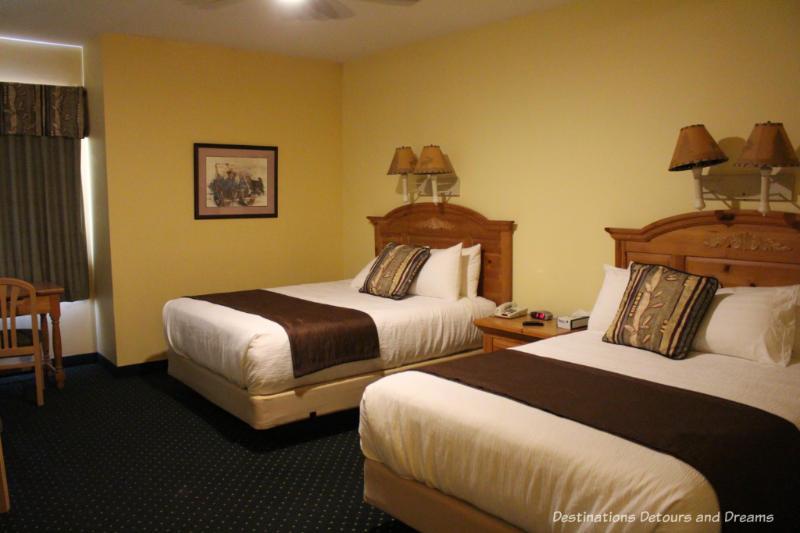 Moose Lodge bedroom at Chena Hot Springs Resort, Alaska