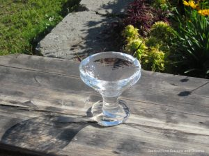 Martini glass made of ice from Aurora Ice Museum at Chena Hot Springs