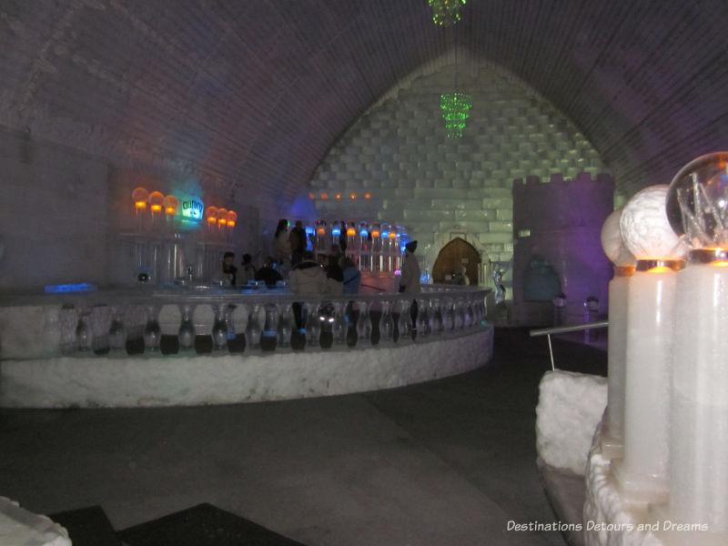 Inside the Aurora Ice Museum at Chena Hot Springs Resort, Alaska