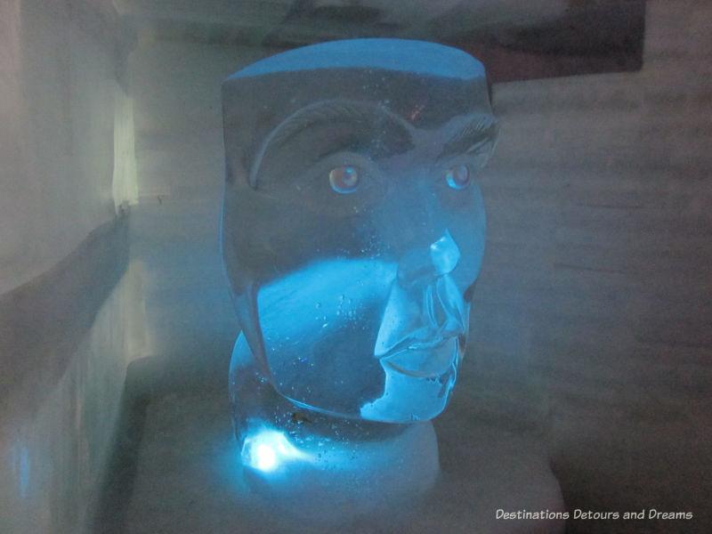 Ice sculpture at Aurora Ice Museum at Chena Hot Springs Resort. Alaska