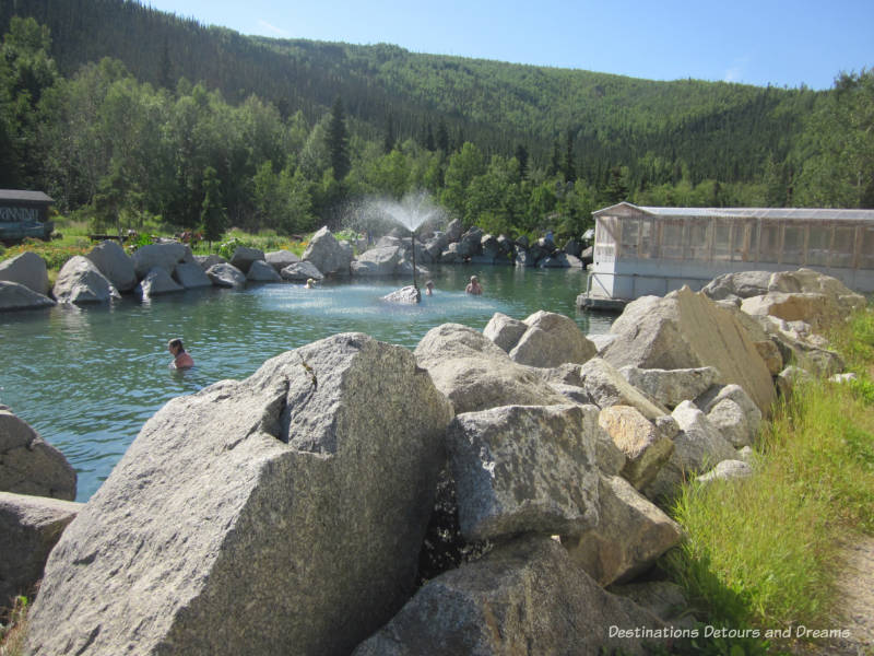Chena Hot Springs Resort rock-rimmed hot spring lake